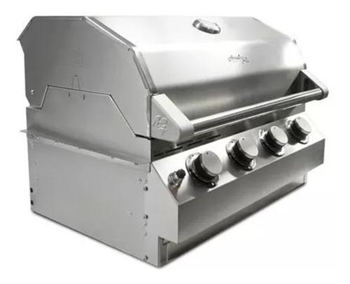 churrasqueira a gás inox 304 amazin grill 4 queimadores