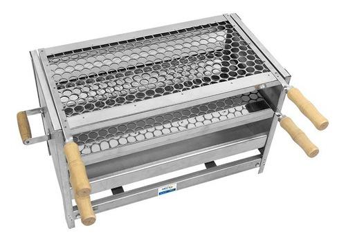 churrasqueira aço chapa grossa galvanizada resistente 55x28