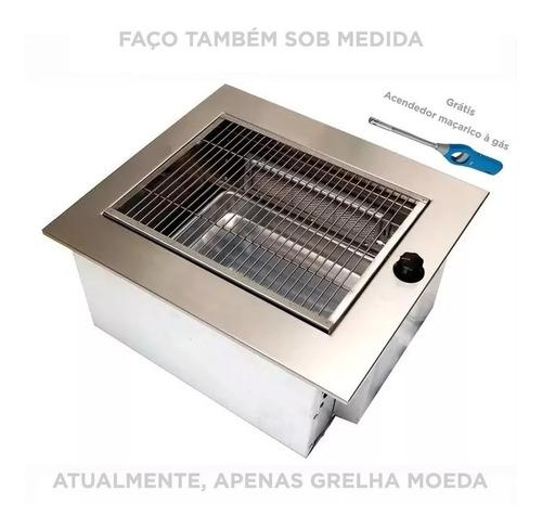 churrasqueira apartamento gás glp cozinha cook top embutir
