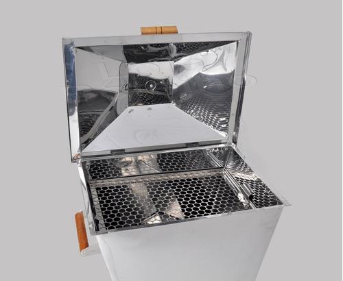 churrasqueira bafo inox carvão - marca tchê grill - tam g