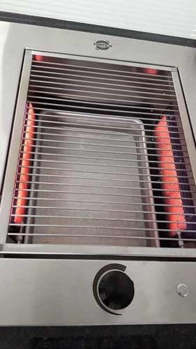 churrasqueira cook top apartamento de embutir gás glp inox