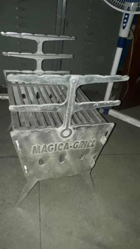 churrasqueira de alumínio batido desmontável
