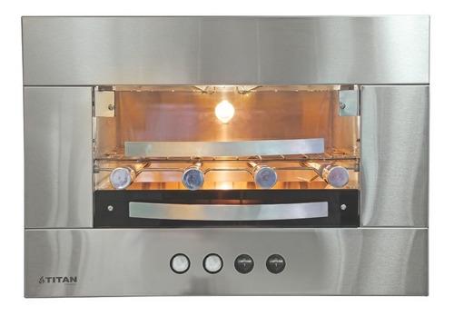 churrasqueira de embutir elétrica 4 espetos + kit ventilação
