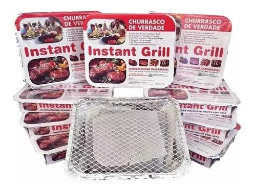 churrasqueira descartável instant grill - com carvão vegetal