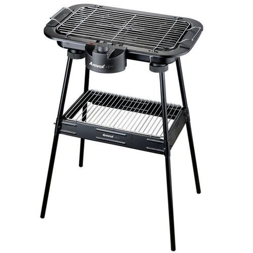 churrasqueira elétrica portátilpés e prateleira super grill