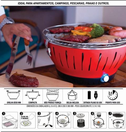 churrasqueira elétrica s/ fumaça + panela de arroz eletrica