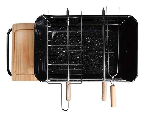 churrasqueira esmaltada em aço portátil califórnia 3011 mor