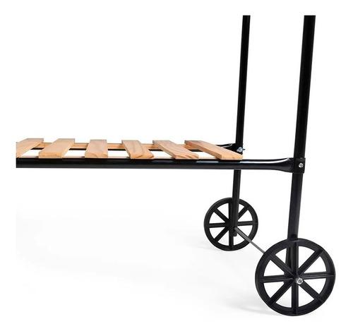 churrasqueira esmaltada rodeio a carvão 3013 - mor