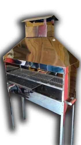 churrasqueira espetinho profissional gigante inox com coifa