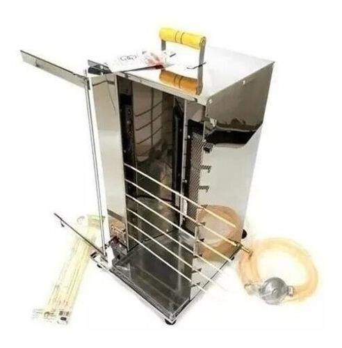 churrasqueira-espetinhos a gás elétrica giratória aço inox