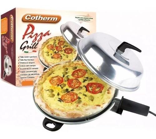 churrasqueira forno 2 em 1 tampa pizza grill elétrico 110v