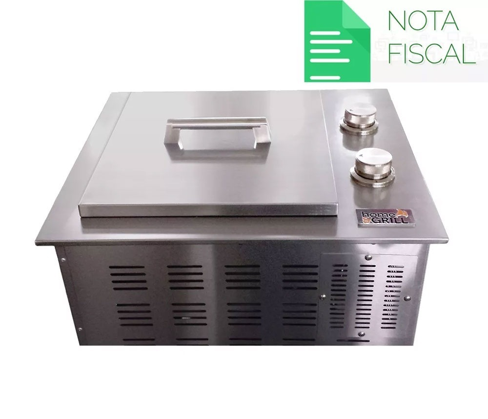 churrasqueira À gás home e grill drop in hg 2b 100 inox 304 r
