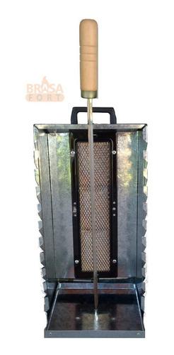 churrasqueira gás portátil 10 espetinhos com regulagem