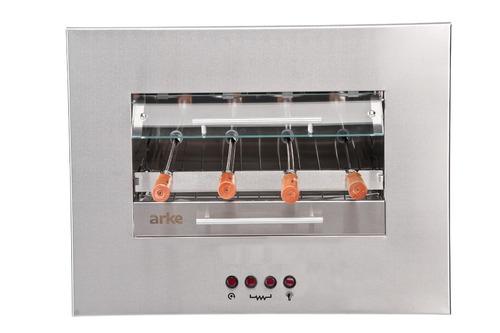 churrasqueira horizontal elétrica de embutir 4 espetos