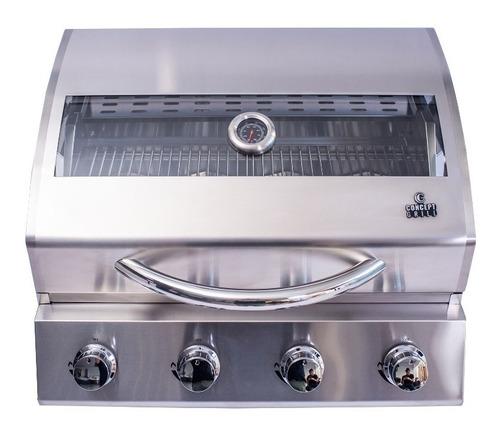 churrasqueira inox 304 a gás com visor concept grill 4q