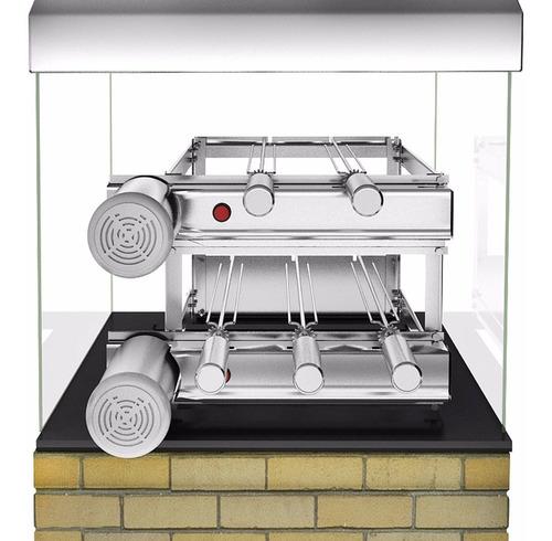 churrasqueira inox gira grill dupla 5 espetos bivolt