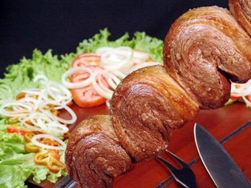 churrasqueira inox giratória gira grill 5 espetos + brinde
