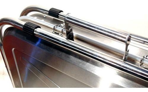 churrasqueira maleta portatil aço galvanizado mod yf-8828