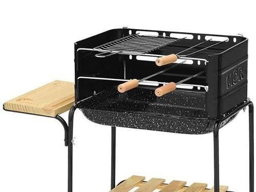 churrasqueira moldada exterior suporte grill portátil #0zd9