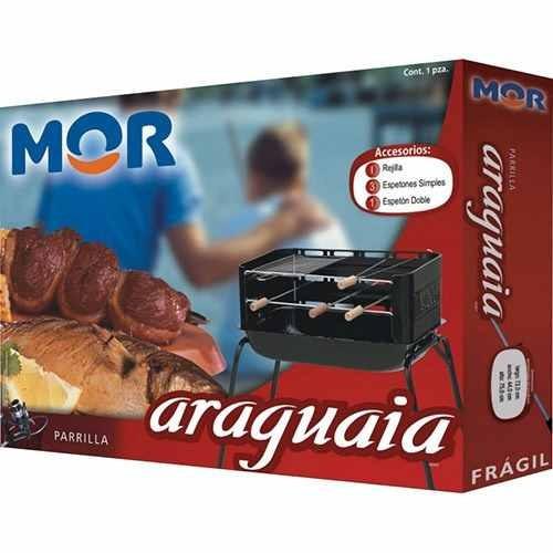 churrasqueira mor portátil araguaia + acessórios