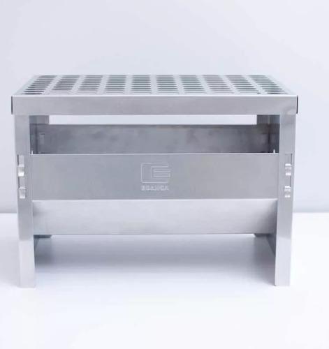 churrasqueira portátil edanca inox compacta grill