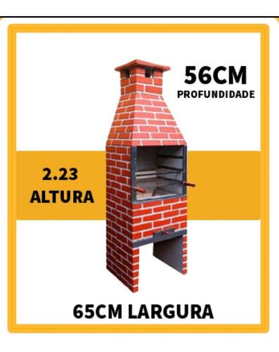 churrasqueira pre moldada 65cm