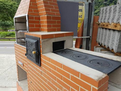 churrasqueira pré moldada conjunto fogão e forno
