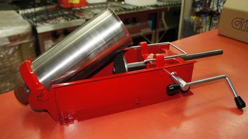 churrera 2 kg.tolva acero +rellenadora churros c/dosificador