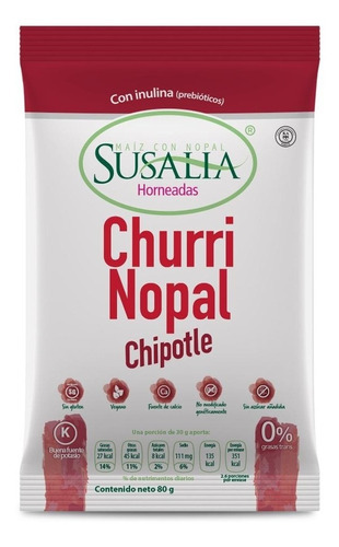 churrinopal chipotle 80g caja 12 pzs