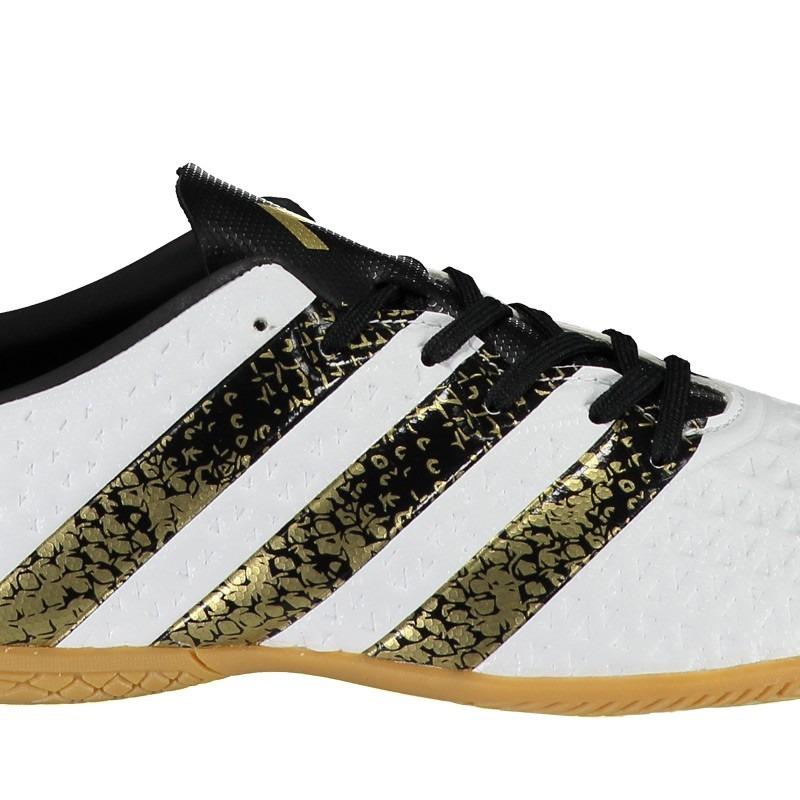 c3adbdb61b chuteira adidas ace 16.4 in futsal juvenil branca. Carregando zoom.