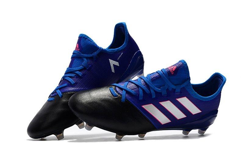 Chuteira adidas Ace 17.1 Leather Blue + Black Campo Original - R ... 0133e3b5a3b71