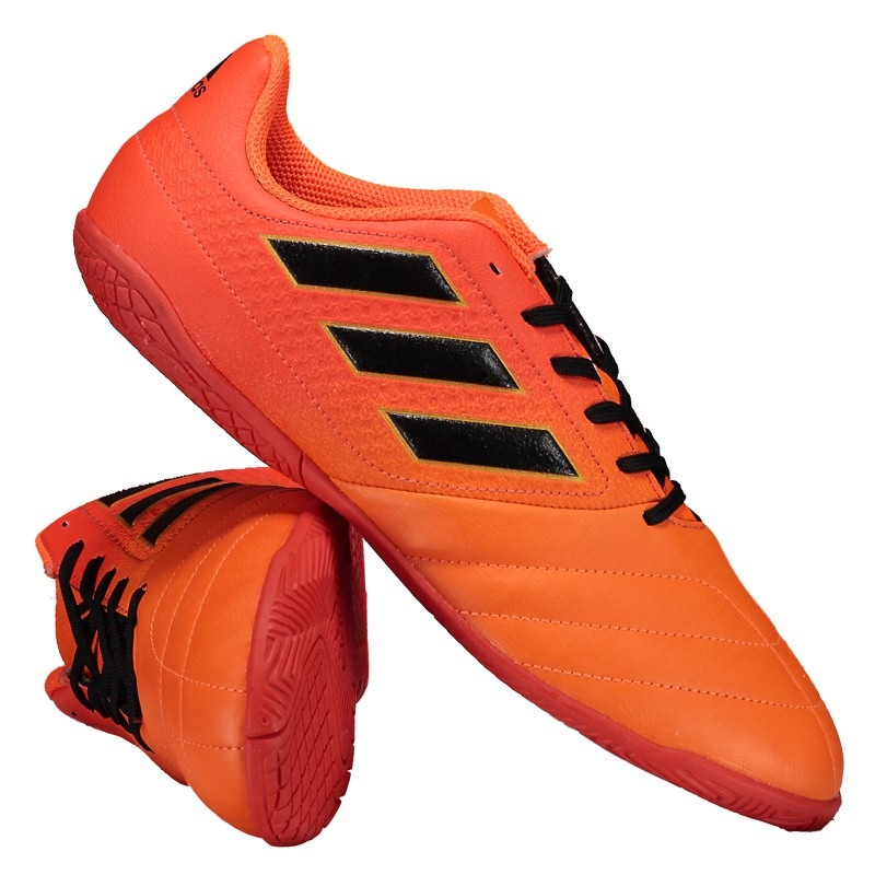 ded38348c4 chuteira adidas ace 17.4 in futsal juvenil laranja. Carregando zoom.