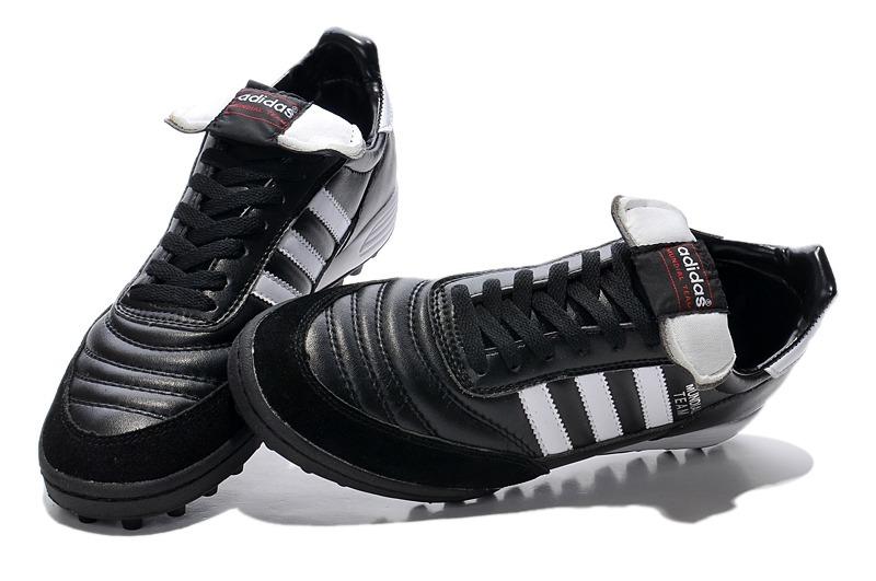 chuteira adidas copa mundial team society couro black+white. Carregando zoom . 5adb9c4507f67