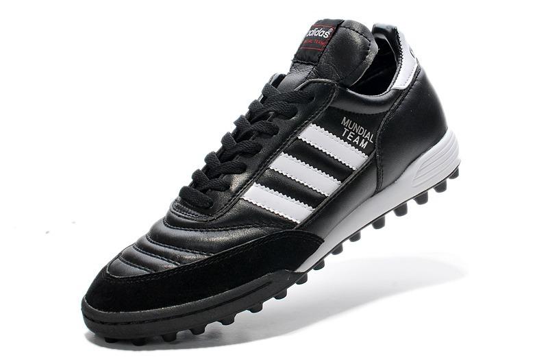 1b4a3dcfbf chuteira adidas copa mundial team society couro black+white. Carregando zoom .