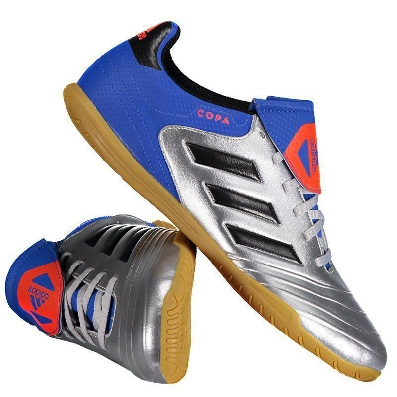 e52947547 chuteira adidas copa tango 18.4 in futsal prata. Carregando zoom.