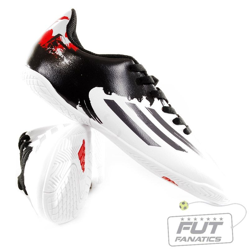 c8e3e0350b ... chuteira adidas f5 messi in futsal juvenil - futfanatics. Carregando  zoom. lace up in ...