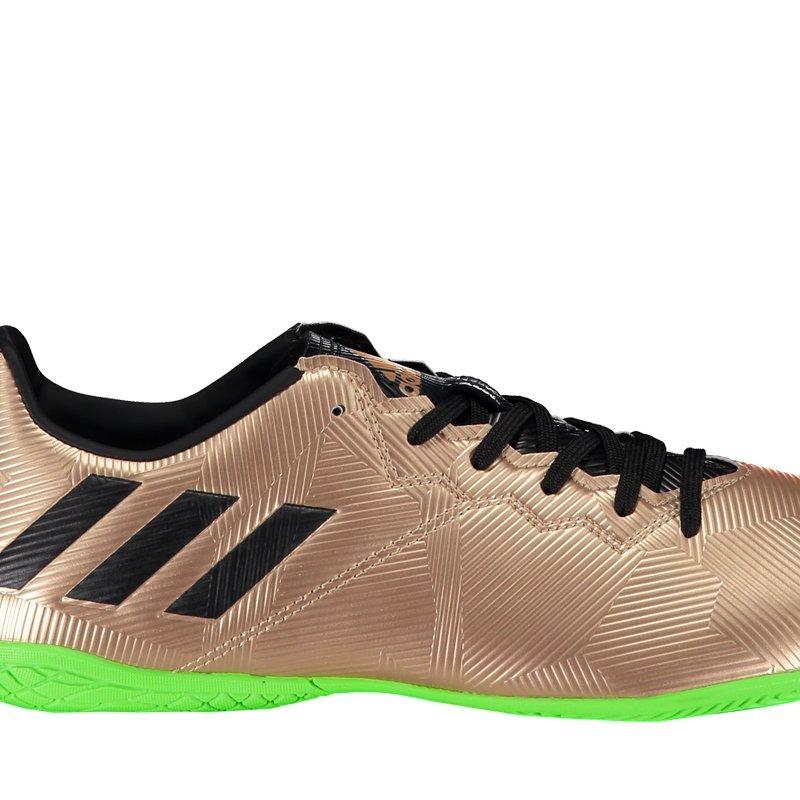 5f1c39cb08 chuteira adidas messi 16.4 in futsal dourada juvenil. Carregando zoom.