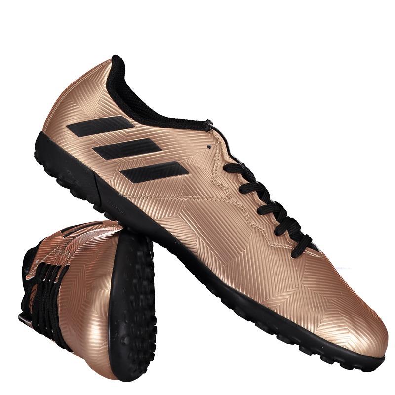 3b9a30465c Chuteira adidas Messi 16.4 Tf Society Dourada Juvenil - R  124
