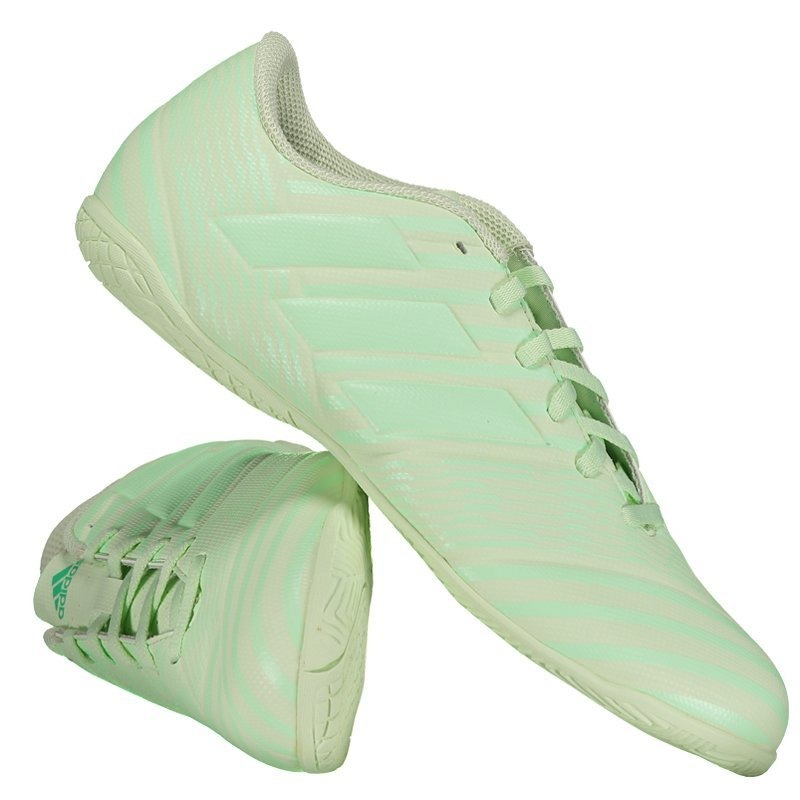 940ce7c718 chuteira adidas nemeziz 17.4 in futsal verde. Carregando zoom.