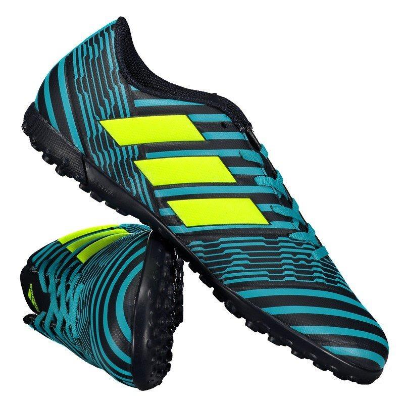 chuteira adidas nemeziz 17.4 tf society azul. Carregando zoom. 1f52360821ab2