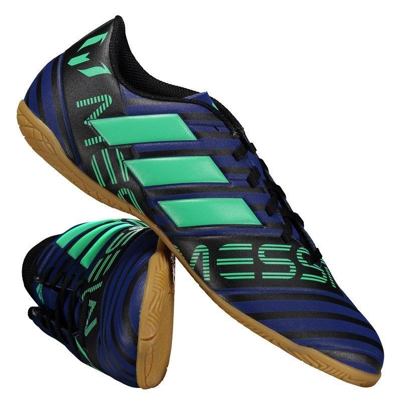 chuteira adidas nemeziz messi 17.4 in futsal azul. Carregando zoom. 668fbf547b19d