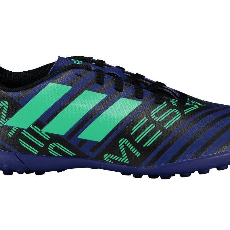 Chuteira adidas Nemeziz Messi 17.4 Tf Society Juvenil Azul - R  179 ... 4015643b8f5af