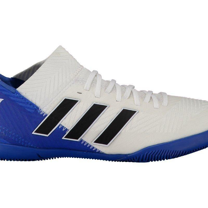 ... arrives cf6b3 a6aa3 chuteira adidas nemeziz messi 18.3 in futsal  juvenil azul. Carregando zoom. ... 4c2c5cadaa423