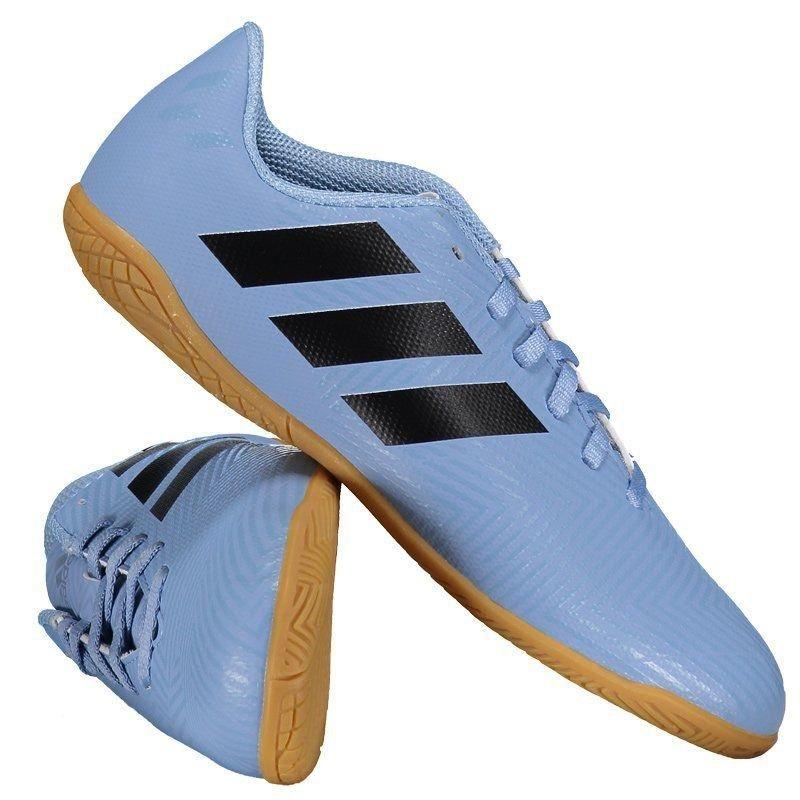 chuteira adidas nemeziz messi 18.4 in futsal juvenil azul. Carregando zoom. 159697e4d0a71