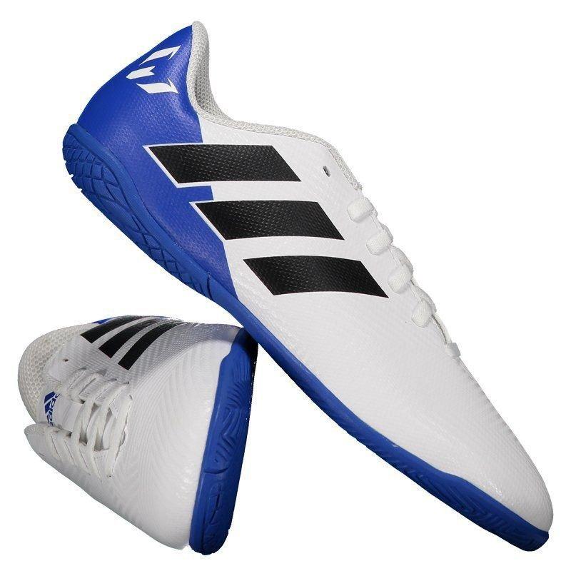 ddb9655453 chuteira adidas nemeziz messi 18.4 in futsal juvenil branca. Carregando  zoom.