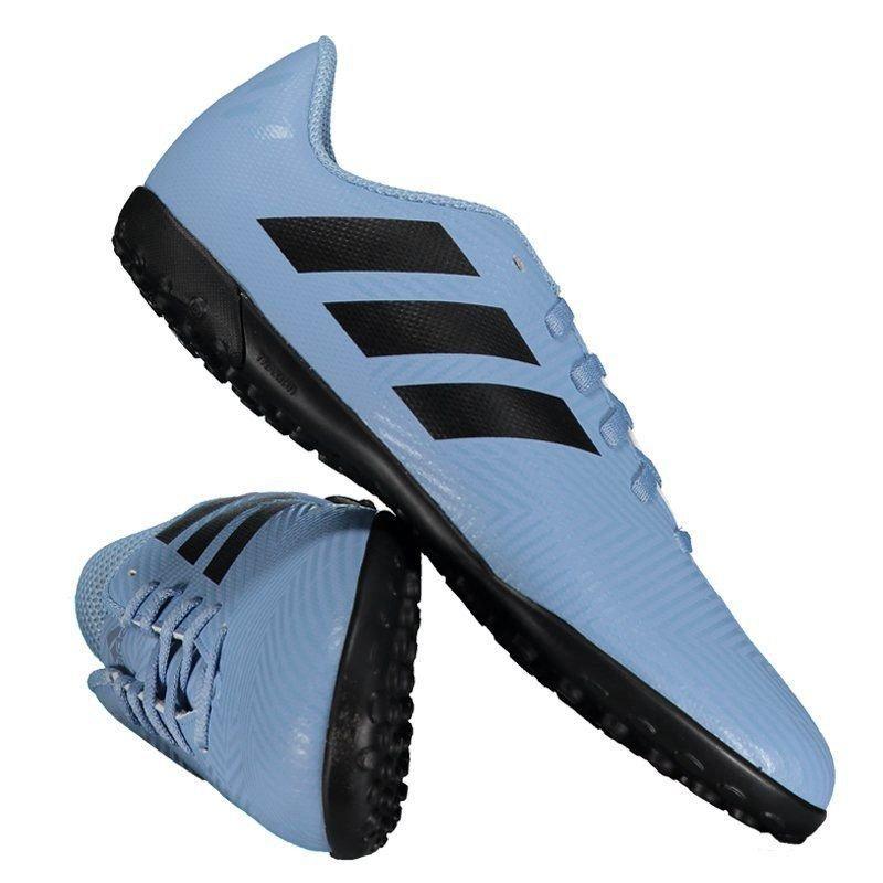 chuteira adidas nemeziz messi 18.4 tf society juvenil azul. Carregando zoom. 0efc910eeeae7