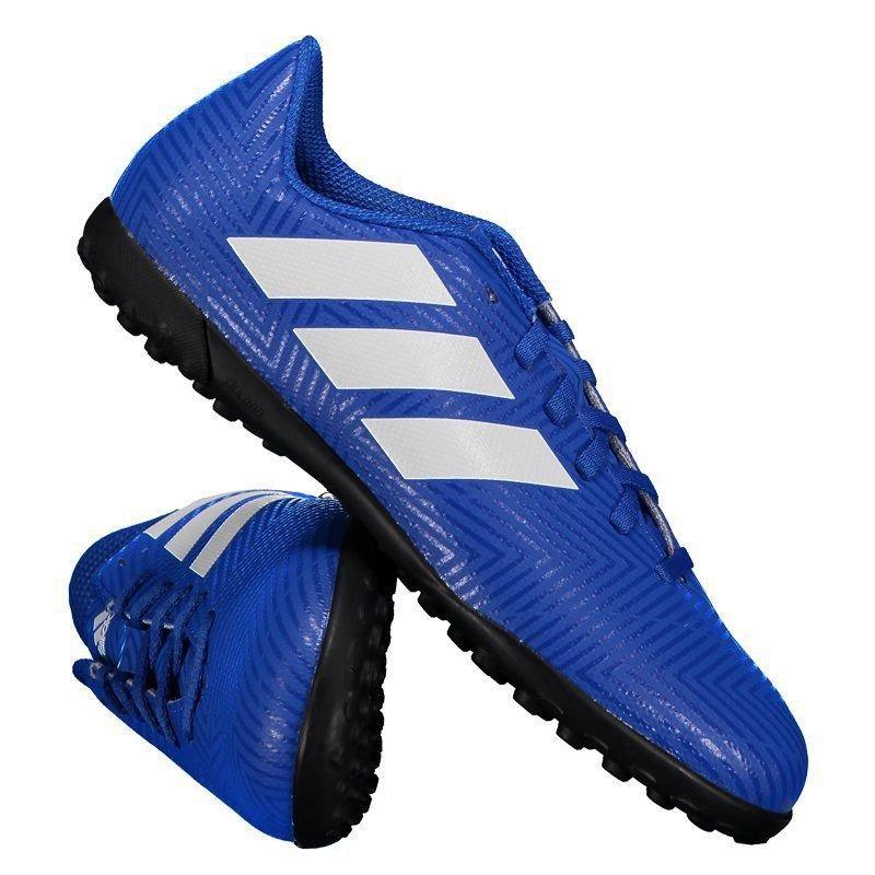 chuteira adidas nemeziz tango 18.4 tf society juvenil azul. Carregando zoom. 748c4a2471c83