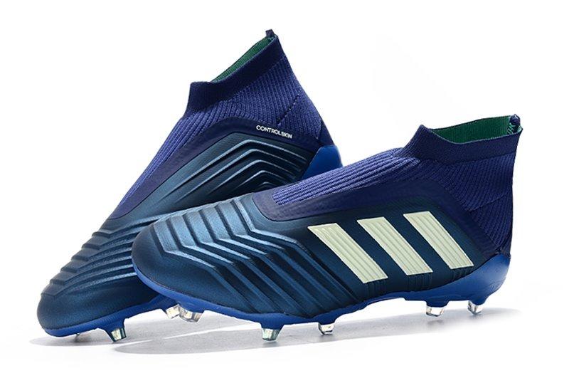 ... chuteira adidas predator 18 blue+white campo profissional. Carregando  zoom. cf6086f8a2261