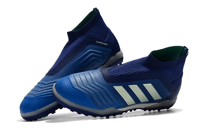 chuteira adidas predator 18 blue+white society original. Carregando zoom. 183ed55758d49