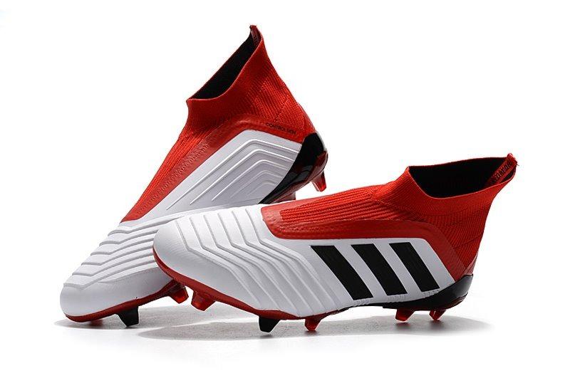 8a549ee7a9 chuteira adidas predator 18 white+red campo profissional. Carregando zoom.